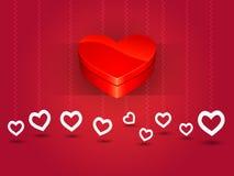 De doos van de valentijnskaartendag van liefdehart Stock Fotografie