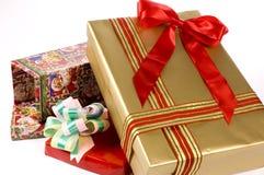 De doos van drie Gift Royalty-vrije Stock Foto