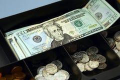 De doos van het contante geld Stock Afbeelding