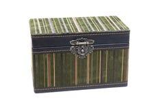 De doos van het fluweel met buitensporig slot Stock Foto