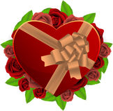 De doos van het hart Royalty-vrije Stock Afbeeldingen