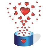 De doos van het hart vector illustratie