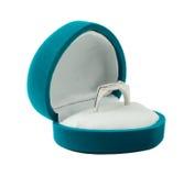 De doos van het juweel met ring Royalty-vrije Stock Foto's