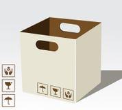 De doos van het karton royalty-vrije illustratie