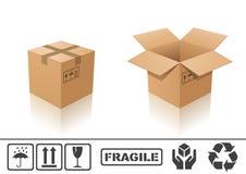 De doos van het karton Stock Afbeeldingen