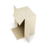 De doos van het karton die op witte achtergrond wordt geïsoleerde 3d geef image Royalty-vrije Stock Foto's