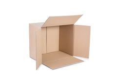 De doos van het karton op witte achtergrond Royalty-vrije Stock Afbeelding