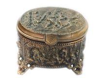 De doos van het koper voor juwelen Royalty-vrije Stock Foto's