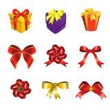 De doos van het lint en van de gift Royalty-vrije Stock Fotografie