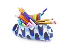 De doos van het potlood stock foto