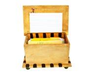 De doos van het recept Stock Foto
