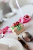 De doos van het suikergoed bij huwelijk stock foto's