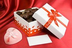 De doos van het suikergoed en prsent. Stock Fotografie