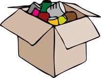 De doos van het voedsel Stock Fotografie