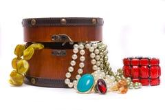 De doos van juwelen. Stock Foto