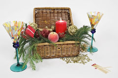 De doos van Kerstmis Royalty-vrije Stock Afbeeldingen