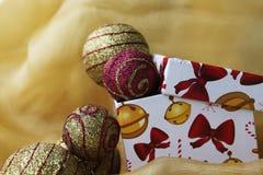 De doos van Kerstmis Royalty-vrije Stock Foto's