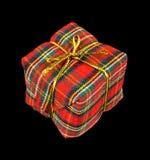 De doos van Kerstmis op zwarte royalty-vrije stock foto's