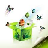 De doos van Pasen Stock Afbeeldingen