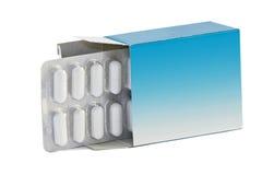 De doos van pillen Stock Foto's