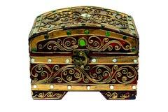 De doos verfraait met juwelen isoleert royalty-vrije stock foto's