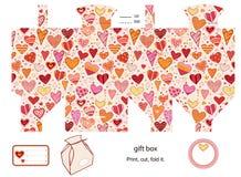 De doosmalplaatje van de gift Stock Fotografie