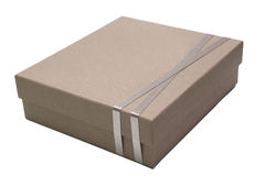 De doospakket van het karton Stock Foto's