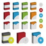 De doosreeks van de software Stock Foto's