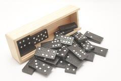 De doosspel van de domino Stock Afbeeldingen