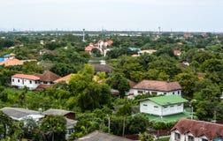 De dorpen in groene aard. Royalty-vrije Stock Fotografie