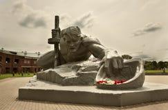 De dorst van het beeldhouwwerk in Brest vesting royalty-vrije stock afbeelding