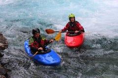 De dos mangos en kayaking foto de archivo