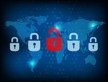 De dossiers van de veiligheidswereld Royalty-vrije Stock Afbeelding
