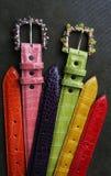 De douane handcrafted riemen Stock Foto