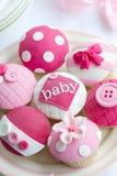 De douche van de baby cupcakes Stock Afbeelding