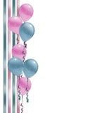 De douche van de de grensbaby van ballons Royalty-vrije Stock Afbeeldingen