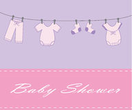 De Douche van het Meisje van de baby Stock Fotografie