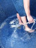 De douche van het zand Royalty-vrije Stock Afbeelding