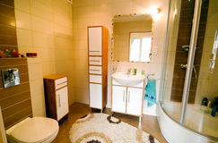 De douchebinnenland van de badkamers Stock Foto's
