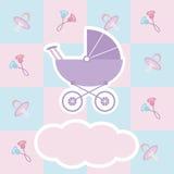 De douchekaart van de baby Royalty-vrije Stock Afbeeldingen