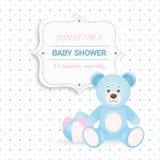 De douchekaart van de baby Stock Afbeeldingen