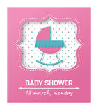 De douchekaart van de baby Stock Foto