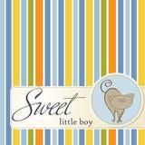 De douchekaart van de baby met kat Stock Foto's