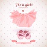 De douchekaart van het babymeisje Stock Foto