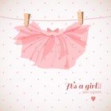 De douchekaart van het babymeisje Royalty-vrije Stock Fotografie