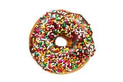 De doughnut met bestrooit Stock Afbeeldingen