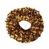 De doughnut met bestrooit geïsoleerd Stock Afbeeldingen