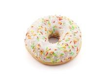 De doughnut met kleurrijk bestrooit Stock Afbeeldingen