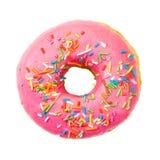 De doughnut met kleurrijk bestrooit Hoogste mening stock afbeeldingen