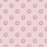 De doughnut Seamles herhaalt Vrij de Voorraadbeeld van de Patroonroyalty Royalty-vrije Stock Afbeeldingen